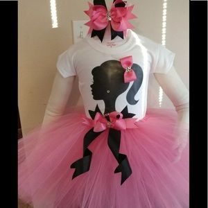 Barbie birthday party tutu outfit